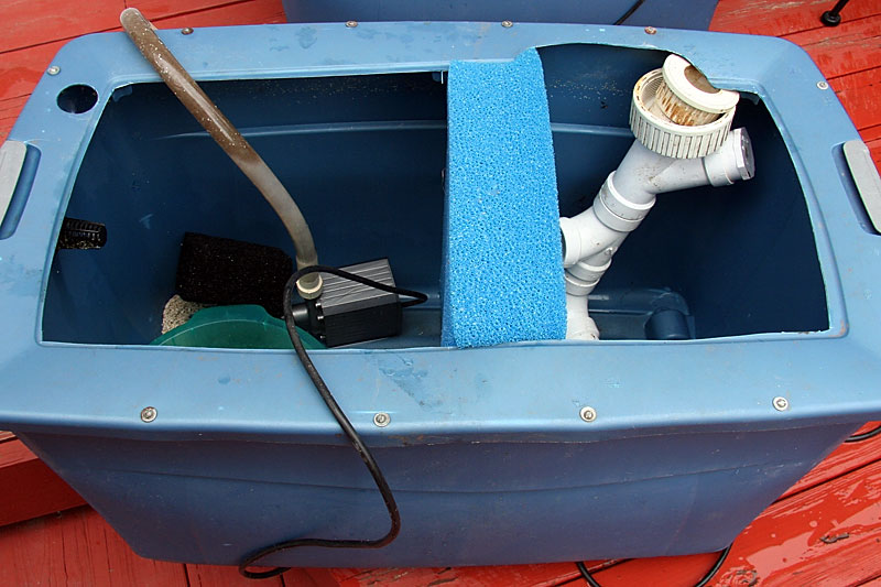 Sump Container with Poret Filter Foam
