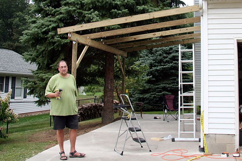 attached wood carport plans