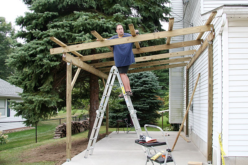 How to built a carport for Building onto a house